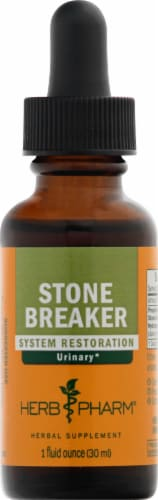 Herb Pharm Stone Breaker Urinary System Restoration Herbal Supplement Perspective: front