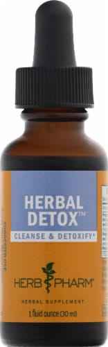 Herb Pharm Herbal Detox Cleanse & Detoxify Herbal Supplement Perspective: front