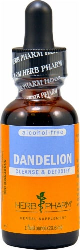 Herb Pharm Dandelion Alcohol Free Herbal Supplement Perspective: front