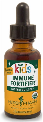Herb Pharm Kid's Immune Fortifier Liquid Perspective: front
