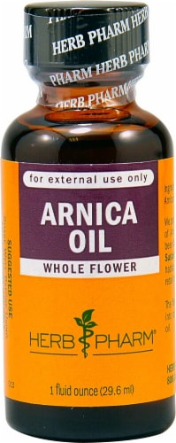 Herb Pharm Whole Flower Arnica Oil Perspective: front