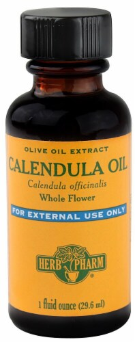 Herb Pharm Calendula Olive Oil Extract Perspective: front