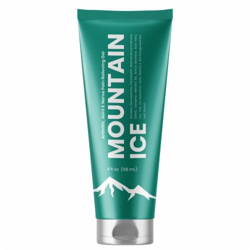 Mountain Ice Arthritis, Joint & Nerve Pain Relief Gel With Natural Ingredients, Tube Perspective: front
