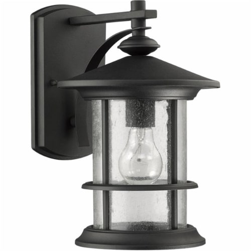 CHLOE Lighting ASHLEY SUPERIORA Transitional 1 Light Black Outdoor Wall Sconce Perspective: front