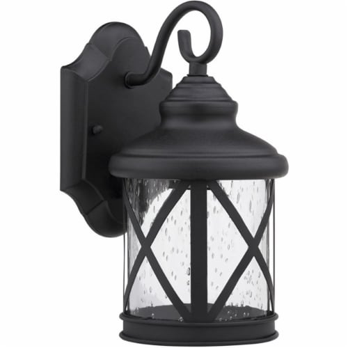 CHLOE Milania Adora Transitional 1 Light Black Outdoor Wall Sconce 16  Height Perspective: front