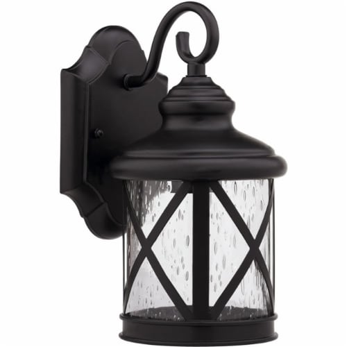CHLOE Milania Adora 1 Light Rubbed Bronze Outdoor Wall Sconce 16  Height Perspective: front