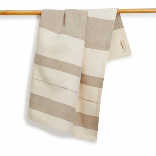 BAY LEAF Kitchen Towel, Handwoven Cotton Perspective: front