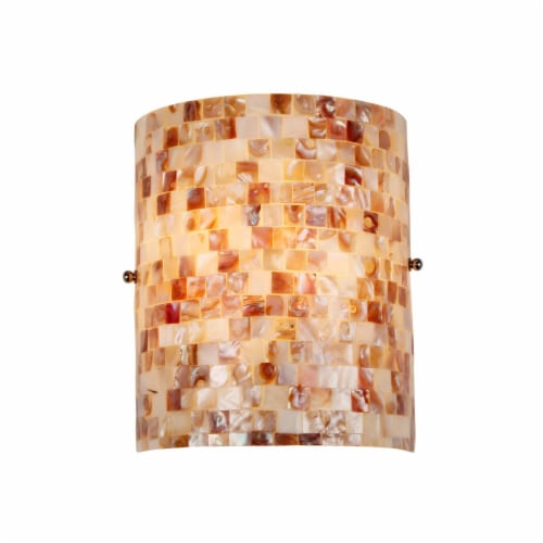 CH3CD28CC08-WS1 CHLOE Lighting SHELLEY Mosaic 1 Light Wall Sconce 8.3  Wide Perspective: front
