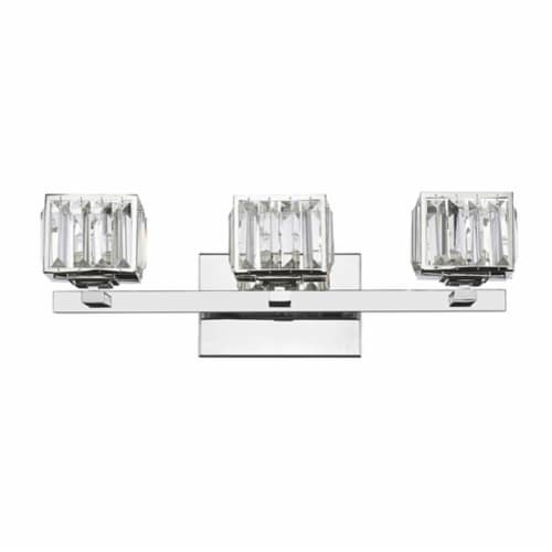 CH20038CM21-BL3 TRILLUMINATE Contemporary 3 Light Crystal Globe Bath Vanity Wall Fixture Perspective: front