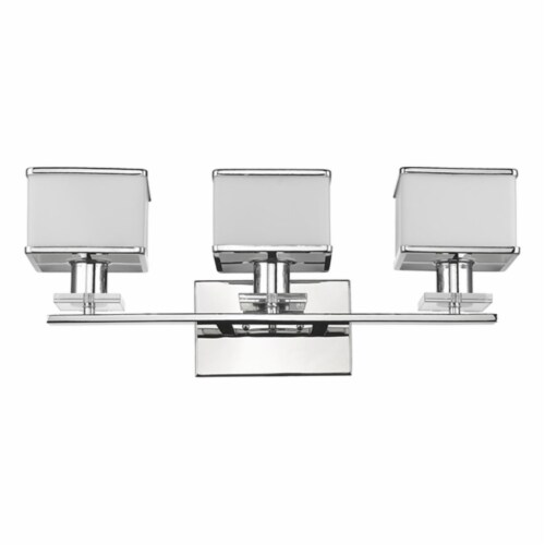 CH20039CM24-BL3 TRILLUMINATE Contemporary 3Light Chrome Finish Opal Glass BathVanity Perspective: front