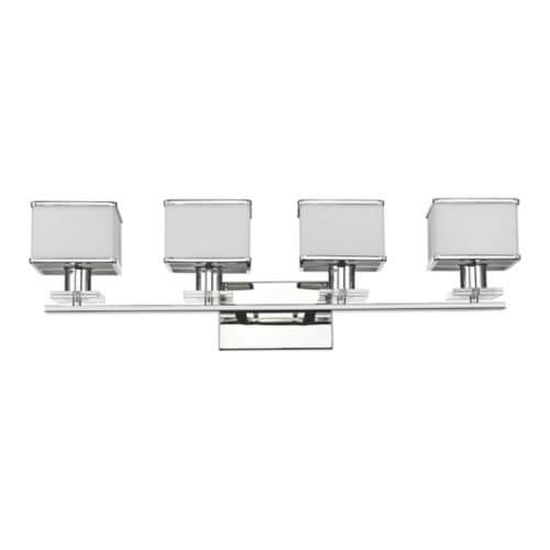 CH20039CM32-BL4 TRILLUMINATE Contemporary 4 Light Chrome Finish Bath Vanity Wall Fixture Perspective: front