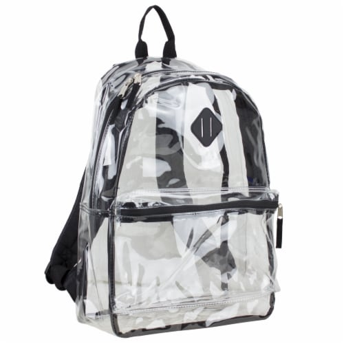 Eastsport Diamond Lashtab Black Trim Backpack - Clear Perspective: front