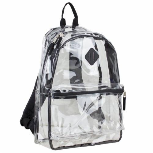 Eastsport Diamond Lashtab Black Trim Backpack - Clear Perspective: front