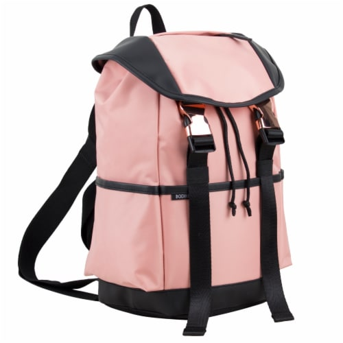 Bodhi Stella Fashion Drawstring Flap Backpack - Blush Perspective: front