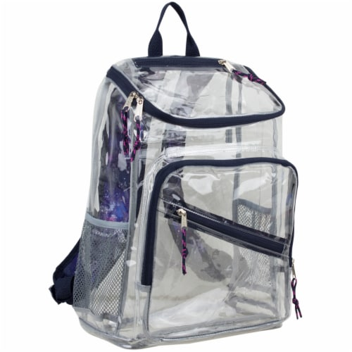 Eastsport Large Top Loader Galaxy Trim Backpack - Clear Perspective: front