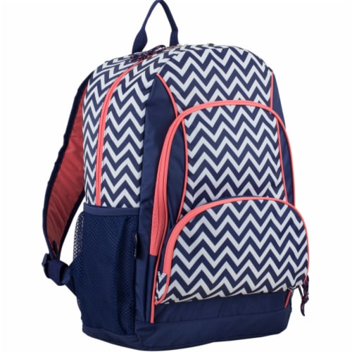 Fuel Triple Decker Backpack - Black/White Chevron Perspective: front