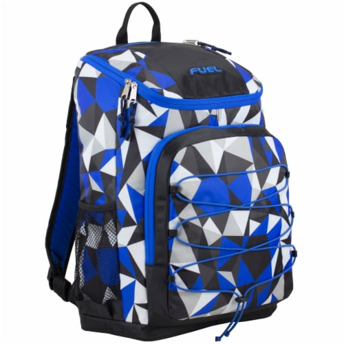 Fuel Wide Mouth Bungee Backpack - Cobalt Splash/Clear Perspective: front