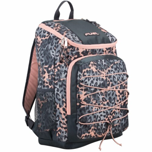 Fuel Wide Mouth Bungee Backpack - Cheetah Tie-Dye Perspective: front