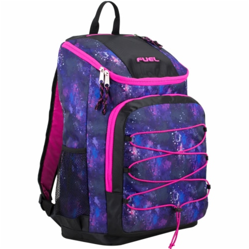 Fuel Wide Mouth Bungee Backpack - Galaxy Perspective: front