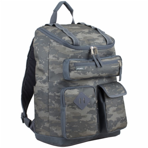 Fuel Wide Mouth Cargo Backpack - Static Camo Perspective: front