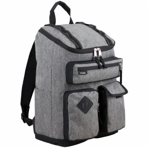 Fuel Wide Mouth Cargo Backpack - Mid-Grey Chambray Perspective: front