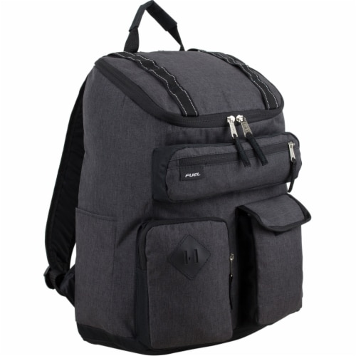 Fuel Wide Mouth Cargo Backpack - Black Chambray Perspective: front