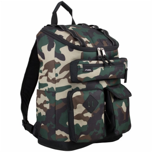 Fuel Wide Mouth Cargo Backpack - Army Camo Perspective: front