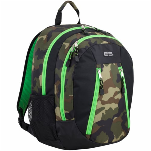 Eastport Active 2.0 Backpack - Camo/Lime Sizzle Perspective: front
