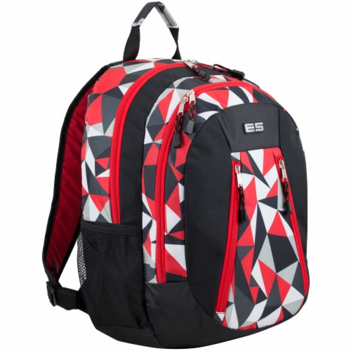Eastsport Active 2.0 Backpack - Black/Poppy Red Geo Perspective: front