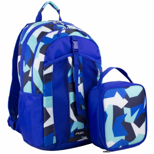 Fuel Deluxe Lunch Bag & Backpack Combo - Jagged Shapes Perspective: front