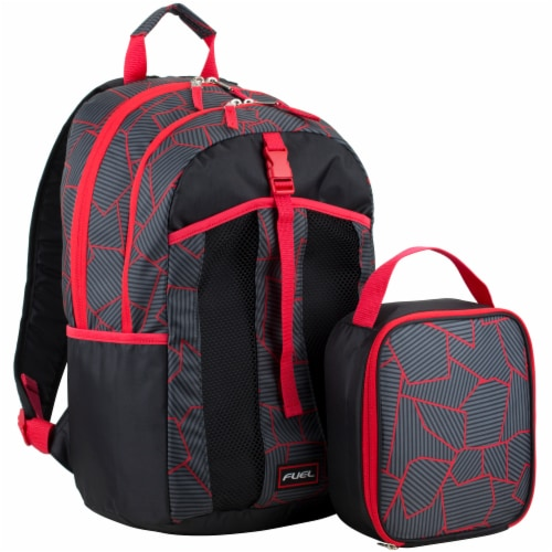 Fuel Deluxe Lunch Bag & Backpack Combo - Geometric Cracks Perspective: front