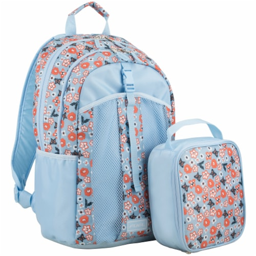 Fuel Deluxe Lunch Bag & Backpack Combo - Ditsy Foral Perspective: front