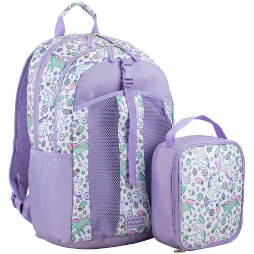 Fuel Deluxe Lunch Bag & Backpack Combo - Unicorn Sweets Perspective: front