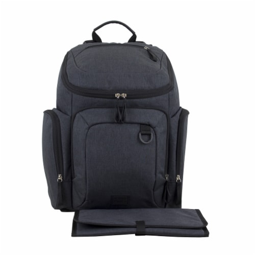 Bodhi Baby Wooster St. Diaper Backpack - Black Chambray Perspective: front