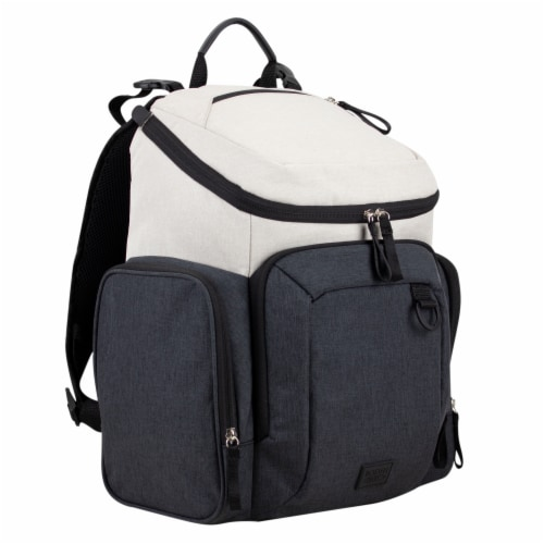 Bodhi Baby Wooster Street Diaper Backpack - Oatmeal Chambray Perspective: front