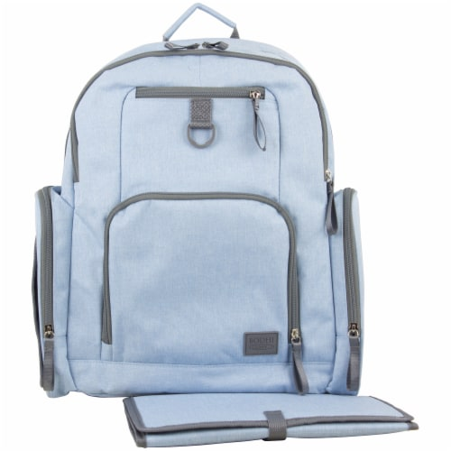 Bodhi Baby Bond Street Diaper Backpack - Light Blue Chambray Perspective: front