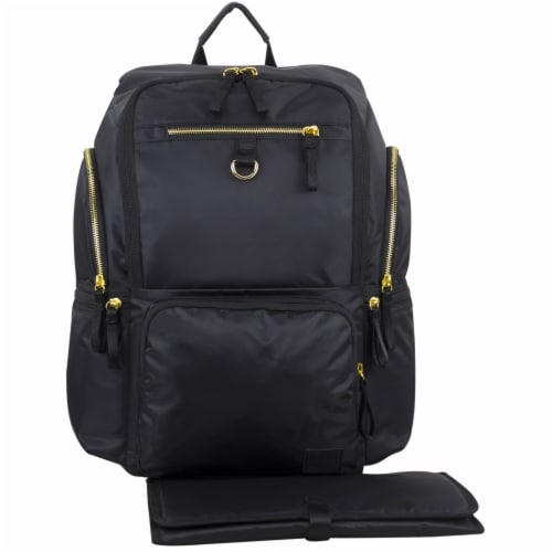 Bodhi Baby Lafayette Street Diaper Backpack - Black Perspective: front
