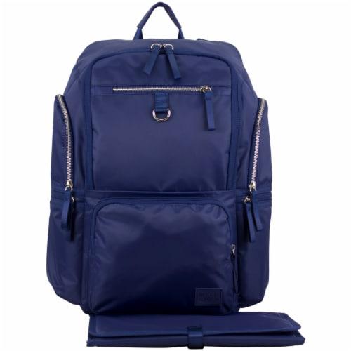 Bodhi Baby Lafayette Street Diaper Backpack - Deep Cobalt Perspective: front