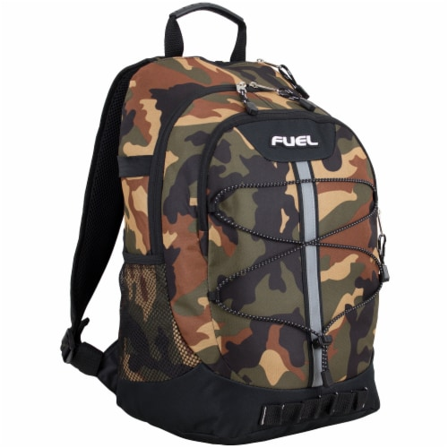 Fuel Army Camo Terra Sport Bungee Backpack Perspective: front
