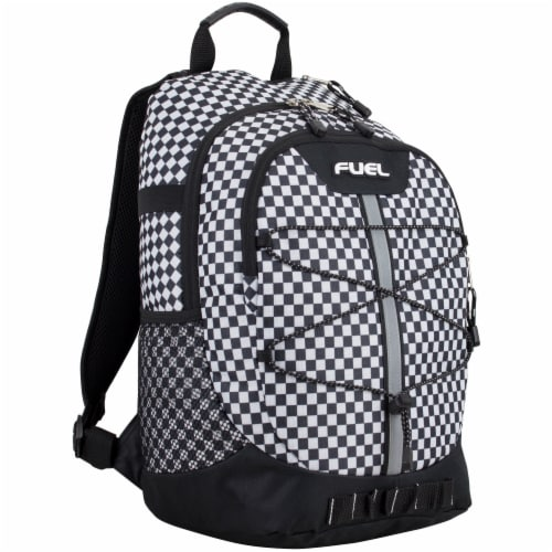 Fuel Checker Plaid Terra Sport Bungee Backpack Perspective: front
