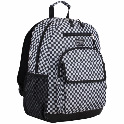 Eastsport Future Tech Backpack - Checker Plaid Perspective: front