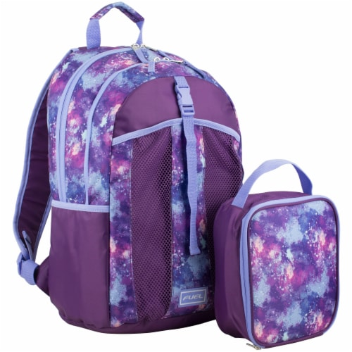 Fuel Deluxe Lunch Bag & Backpack Combo - Galaxy Perspective: front
