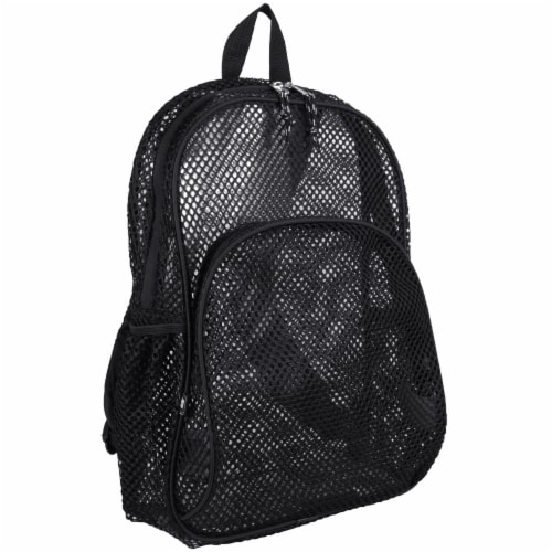 Eastsport Nylon Mesh Dome Backpack - Black Perspective: front