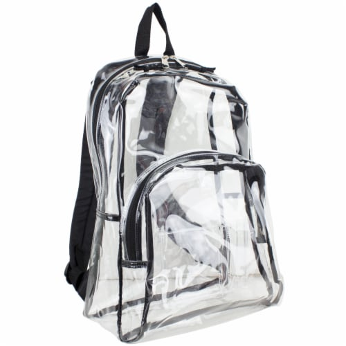 Eastsport PVC Dome Backpack - Black/Clear Perspective: front