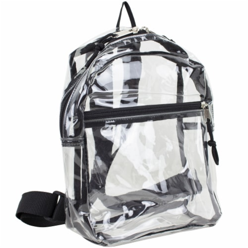 Eastsport Black Trim Mini Backpack - Clear Perspective: front