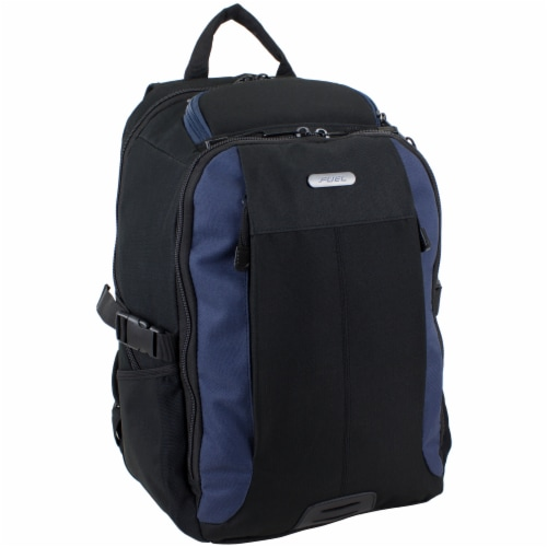Fuel Force Defender Tech Backpack - Black/Navy Perspective: front
