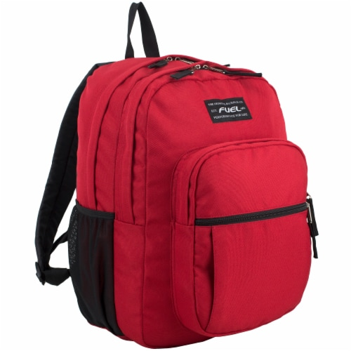 Fuel Deluxe Classic Large Backpack - Red Perspective: front