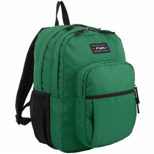 Fuel Deluxe Classic Large Backpack - Forest Green Perspective: front