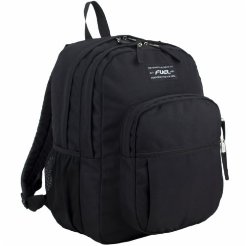 Fuel Deluxe Classic Large Backpack - Black Perspective: front