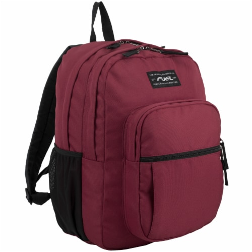 Fuel Deluxe Classic Large Backpack - Maroon Perspective: front